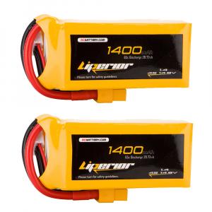 Liperior 1400mAh 4S 65C 14.8V Lipo Battery With XT60 Plug