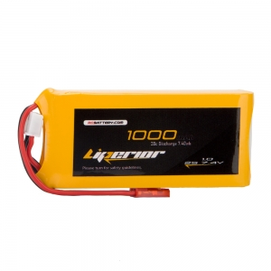 Liperior 1000mAh 2S 20C 7.4V Lipo Battery With JST Plug