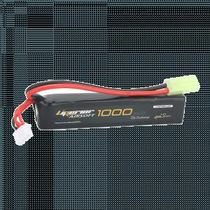 Liperior 1000mAh 3S 20-40C Lipo AIRSOFT Pack With Mini-Tamiya