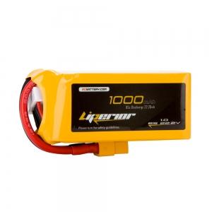 Liperior 1000mAh 6S 65C 22.2V Lipo Battery With XT60 Plug