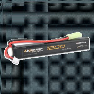Liperior 1200mAh 2S 15C Lipo Airsoft Pack With Mini-Tamiya