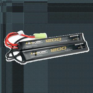 Liperior 1200mAh 2S 15C Lipo Airsoft Nunchuck Pack With Mini-Tamiya