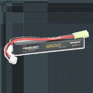 Liperior 1200mAh 2S 25C Lipo Airsoft Pack With Mini-Tamiya
