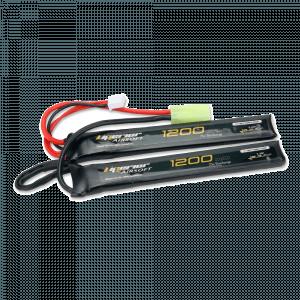 Liperior 1200mAh 2S 25C Lipo Airsoft Nunchuck Pack With Mini-Tamiya