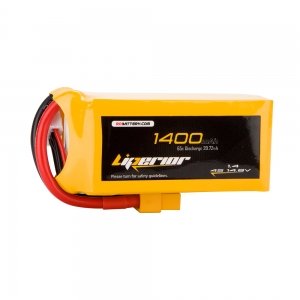 Liperior 1400mAh 4S 65C 14.8V Lipo Battery With XT60 Plug