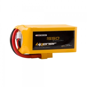 Liperior 1550mAh 4S 65C 14.8V Lipo Battery With XT60 Plug