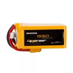 Liperior 1550mAh 6S 65C 22.2V Lipo Battery With XT60 Plug