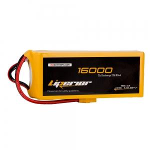 Liperior 16000mAh 4S 12C 14.8V Lipo Battery With XT90 Plug