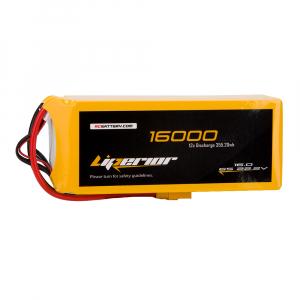 Liperior 16000mAh 6S 12C 22.2V Lipo Battery With XT90 Plug