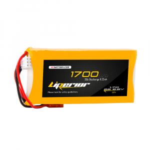 Liperiro 1700mAh 2s 20C 6.6V LiFe Receiver Battey Pack