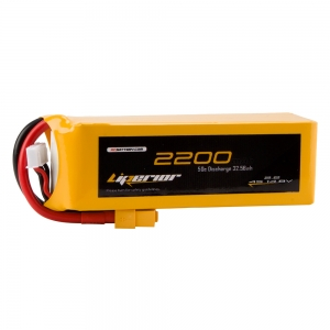 Liperior 2200mAh 4S 50C 14.8V Lipo Battery With XT60 Plug