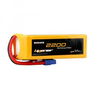 Liperior 2200mAh 4S 50C 14.8V Lipo Battery With EC3 Plug