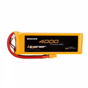 Liperior 4000mAh 2S 25C 7.4V Lipo Battery With XT60 Plug