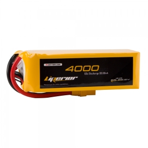 Liperior 4000mAh 6S 60C 22.2V Lipo Battery With XT90 Plug