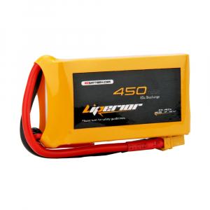 Liperior 450mAh 2S 65C 7.4V Lipo Battery with XT30 Plug