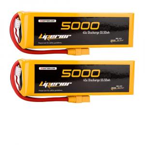 Liperior 5000mAh 3S 45C 11.1V Lipo Battery With XT90 Plug