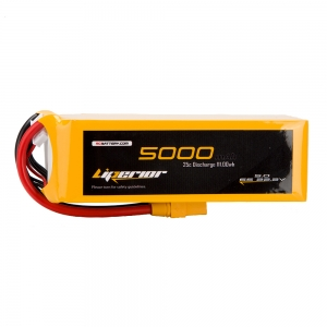 Liperior 5000mAh 6S 25C 22.2V Lipo Battery With XT90 Plug