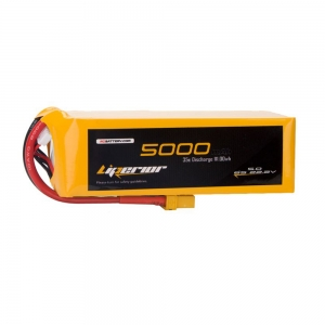 Liperior 5000mAh 6S 35C 22.2V Lipo Battery With XT90 Plug