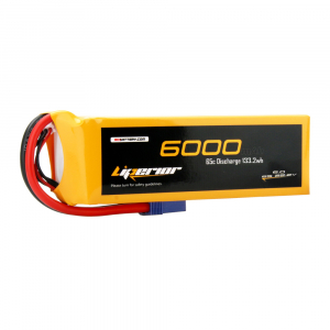 Liperior 6000mAh 6S 65C 22.2V Lipo Battery With EC5 Plug RCBattery.com