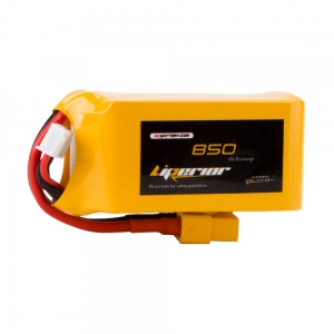 Liperior 850mAh 4S 45C 14.8V Lipo Battery With XT60 Plug