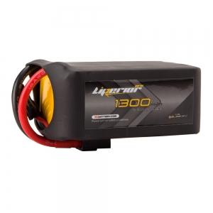 Liperior Pro 1300mAh 6S 75C 22.2V Lipo Battery With XT60 Plug