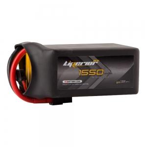 Liperior Pro 1550mAh 6S 75C 22.2V Lipo Battery With XT60 Plug