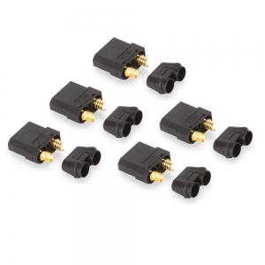 Nylon XT90 Connectors Female with End Caps (5 pcs/bag) Black