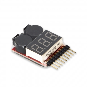Lipo Battery Voltage Checker With Low Voltage Buzzer Alarm (2S~8S)