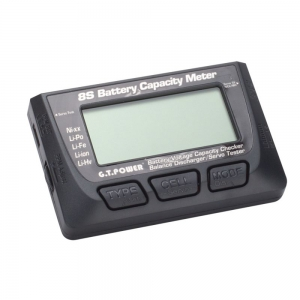 G.T. Power 8S Battery Capacity Meter - Battery Voltage Capacity Checker - Balance Discharger/ Servo Tester